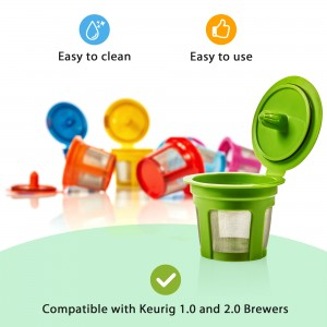 GoodCups 7 Color Reusable K Cups for Keurig K-Duo, K-Classic, K-Elite, K-Select, K-Cafe, K-Compact, 2.0 and 1.0 Brewers