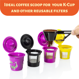 MoyaMriya Coffee Scoop for Keurig Reusable K Cups and Other Single Serve Refillable Capsules Keurig Accessories