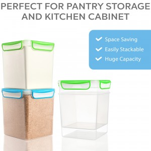 GoodCups 2 Large Airtight Food Storage Containers for Flour, Sugar 142 ounces