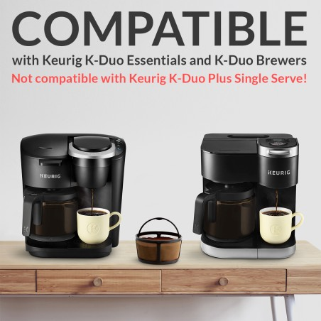 Reusable Keurig K-Duo Coffee Filter for K-Duo Essentials and K-Duo Brewers