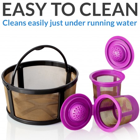 GoodCups Keurig K Duo Coffee Filter and 2 Reusable K Cups for K-Duo Essentials, K-Duo Brewers Only